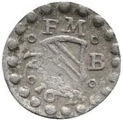 1 Pfennig - Friedrich V. (Pforzheim) – avers