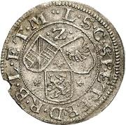 2 Kreuzer - Friedrich VII. Magnus – revers