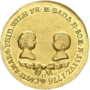 1 Ducat - Karl Friedrich (Durlach ; Naissance des sœurs jumelles) – avers