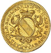1 ducat Karl Friedrich (Hommage de Baden-Hachberg) – avers