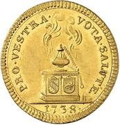 1 ducat Karl Friedrich (Hommage de Baden-Hachberg) – revers
