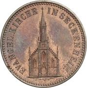 1 Kreuzer - Friedrich I (Inauguration de l'église de Seckenheim) – revers
