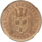 1 Kreuzer - Friedrich I (Victoire contre la France) – avers