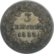 3 kreuzer Leopold I – revers
