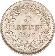 3 kreuzer Friedrich I – revers