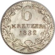 6 kreuzer Leopold I – revers