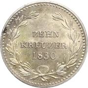 10 Kreuzer - Ludwig I – revers
