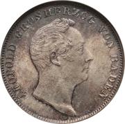 ½ gulden Leopold I – avers