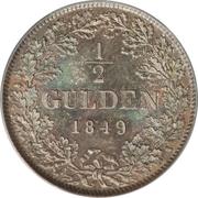 ½ gulden Leopold I – revers
