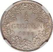 ½ gulden Friedrich I – revers