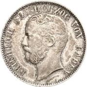 ½ Gulden - Friedrich I – avers