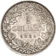 ½ Gulden - Friedrich I – revers