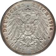 3 mark Friedrich II – revers