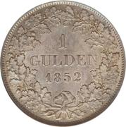 1 gulden Leopold I – revers