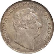 1 gulden Leopold I – avers