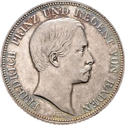 1 Gulden - Friedrich I – avers