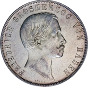 1 gulden Friedrich I - Visite de la monnaie de Bade – avers