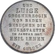 1 gulden Friedrich I - Visite de la monnaie de Bade – revers