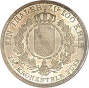 1 kronenthaler Ludwig I – revers