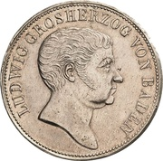 2 Gulden - Ludwig I – avers