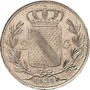 2 Gulden - Ludwig I – revers