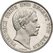 2 Gulden - Friedrich I – avers