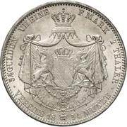2 Thaler / 3½ Gulden - Ludwig II – revers