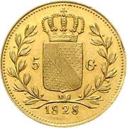 5 Gulden - Ludwig I – revers
