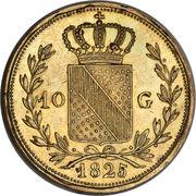 10 gulden Ludwig I – revers