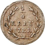 ¼ kreuzer Ludwig I – revers