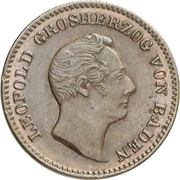 ½ kreuzer Leopold – avers