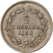 ½ kreuzer Leopold – revers