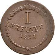 1 kreuzer Karl Friedrich – revers