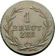 1 kreutzer Karl Ludwig Friedrich – revers