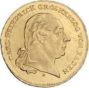 1 Ducat - Karl Friedrich (Rheingold-Dukat) – avers
