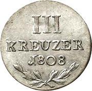 3 Kreuzer - Karl Friedrich – revers