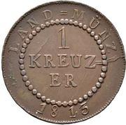 1 Kreuzer - Karl Ludwig Friedrich – revers