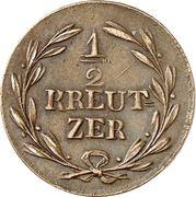 ½ Kreuzer - Karl Ludwig Friedrich – revers