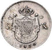 6 Kreuzer - Ludwig I – revers