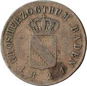 ½ Kreuzer - Ludwig I – avers