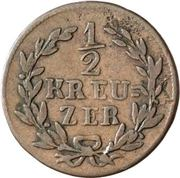 ½ Kreuzer - Ludwig I – revers