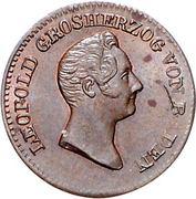 ½ Kreuzer - Leopold I. – avers