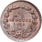 ½ Kreuzer - Leopold I. – revers