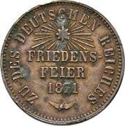 1 Kreuzer - Friedrich I (Victoire contre la France) – revers