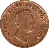 1 kreuzer Leopold I – avers