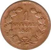 1 kreuzer Leopold I – revers