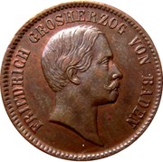 1 kreuzer Friedrich I – avers