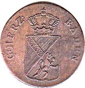 1 kreutzer Karl Ludwig Friedrich – avers