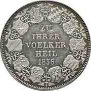 1 kronenthaler Leopold I - Union des douanes – revers