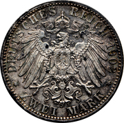 2 mark Friedrich I -  revers